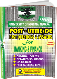 UNN Past UTME Questions for BANKING FINANCE