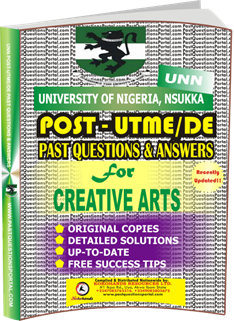 UNN Past UTME Questions for CREATIVE ARTS