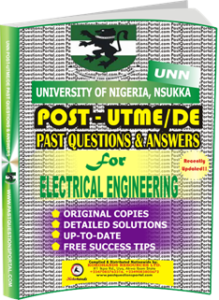 UNN Past UTME Questions for ELECTRICAL ENGINEERING