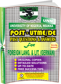 UNN Past UTME Questions for FOREIGN LANGUAGE