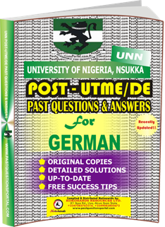 UNN Past UTME Questions for GERMAN