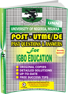 UNN Past UTME Questions for IGBO EDUCATION