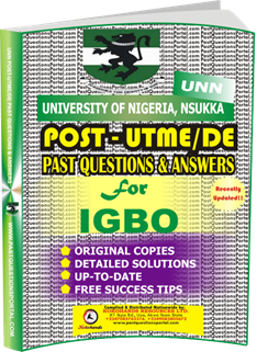UNN Past UTME Questions for IGBO