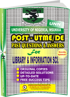 UNN Past UTME Questions for LIBRARY INFORMATION_SCIENCE