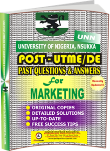 UNN Past UTME Questions for MARKETING