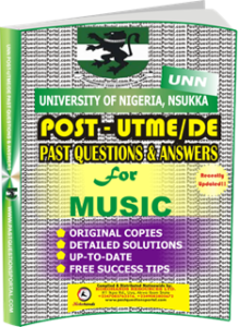 UNN Past UTME Questions for MUSIC