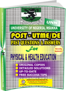 UNN Past UTME Questions for PHYSICAL HEALTH EDUCATION