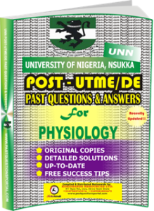 UNN Past UTME Questions for PHYSIOLOGY