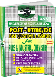 UNN Past UTME Questions for PURE INDUSTRIAL CHEMISTRY