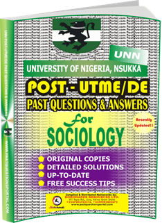 UNN Past UTME Questions for SOCIOLOGY