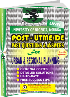 UNN Past UTME Questions for URBAN REGIONAL PLANNING