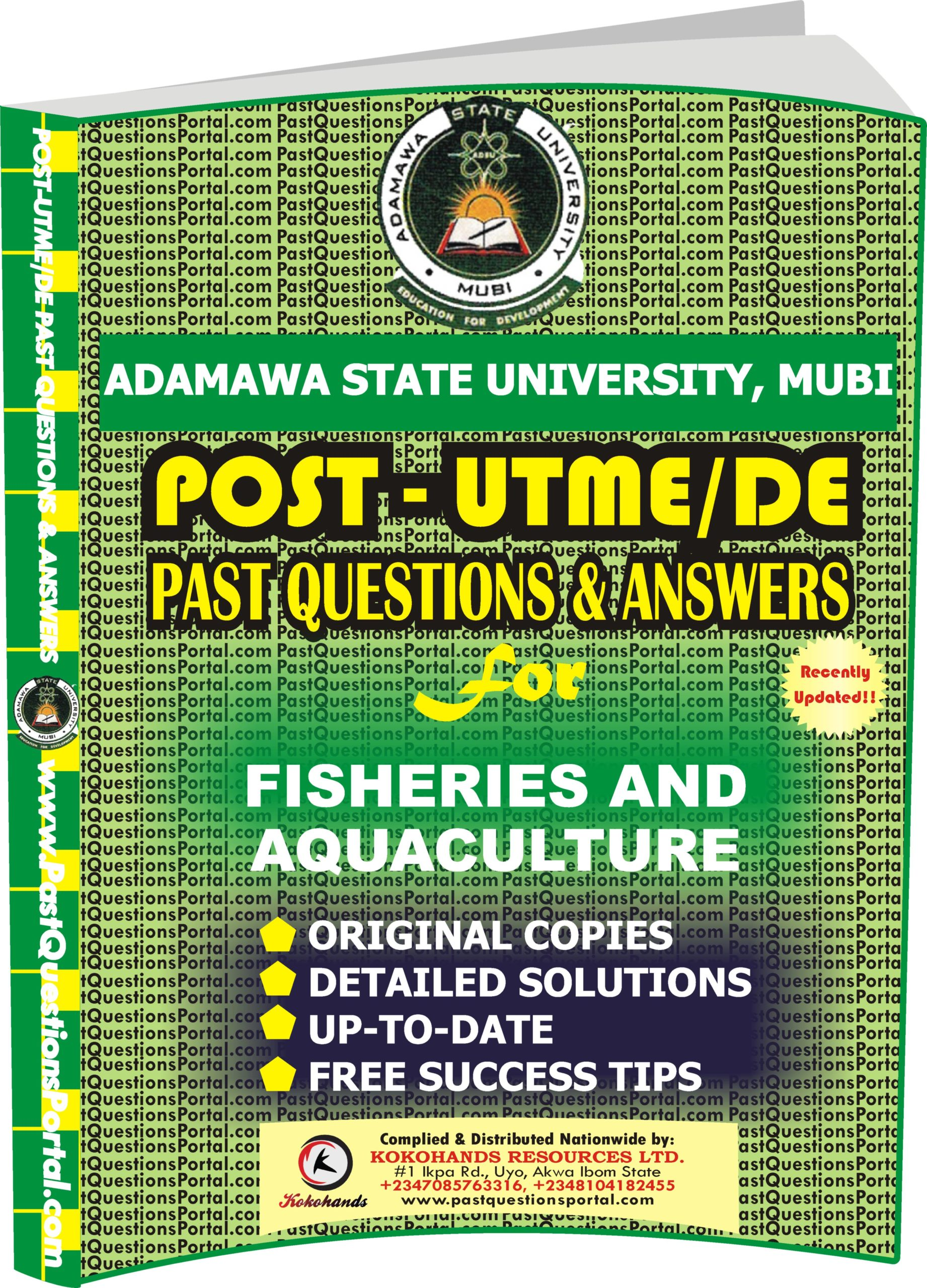 ADSU Post UTME Past Questions for FISHERIES & AQUACULTURE