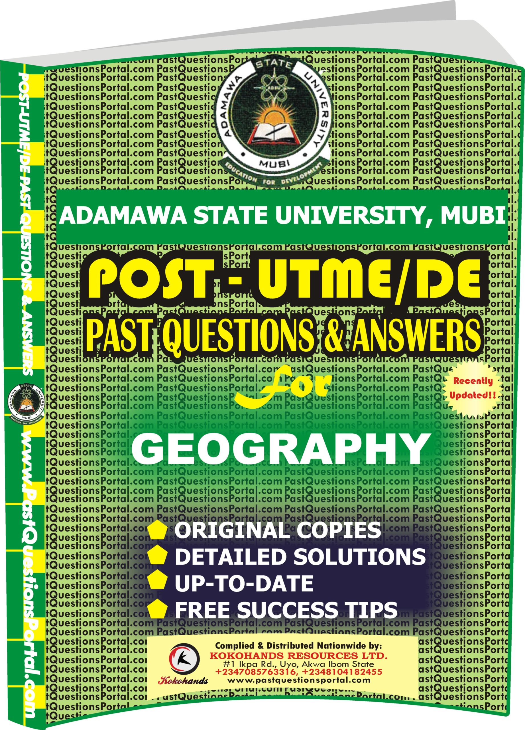 ADSU Post UTME Past Questions for GEOGRAPHY