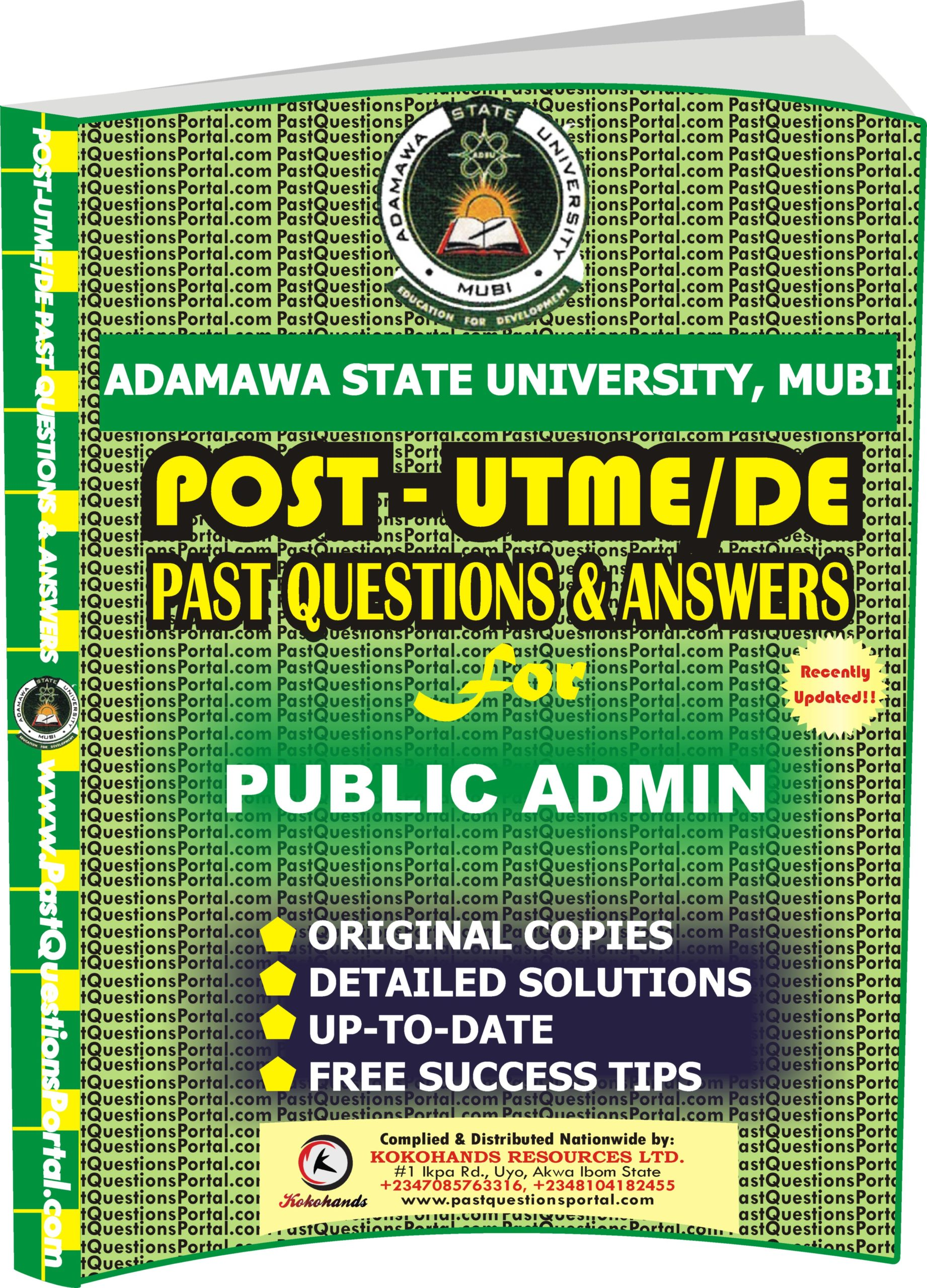 ADSU Post UTME Past Questions for PUBLIC ADMINISTRATION