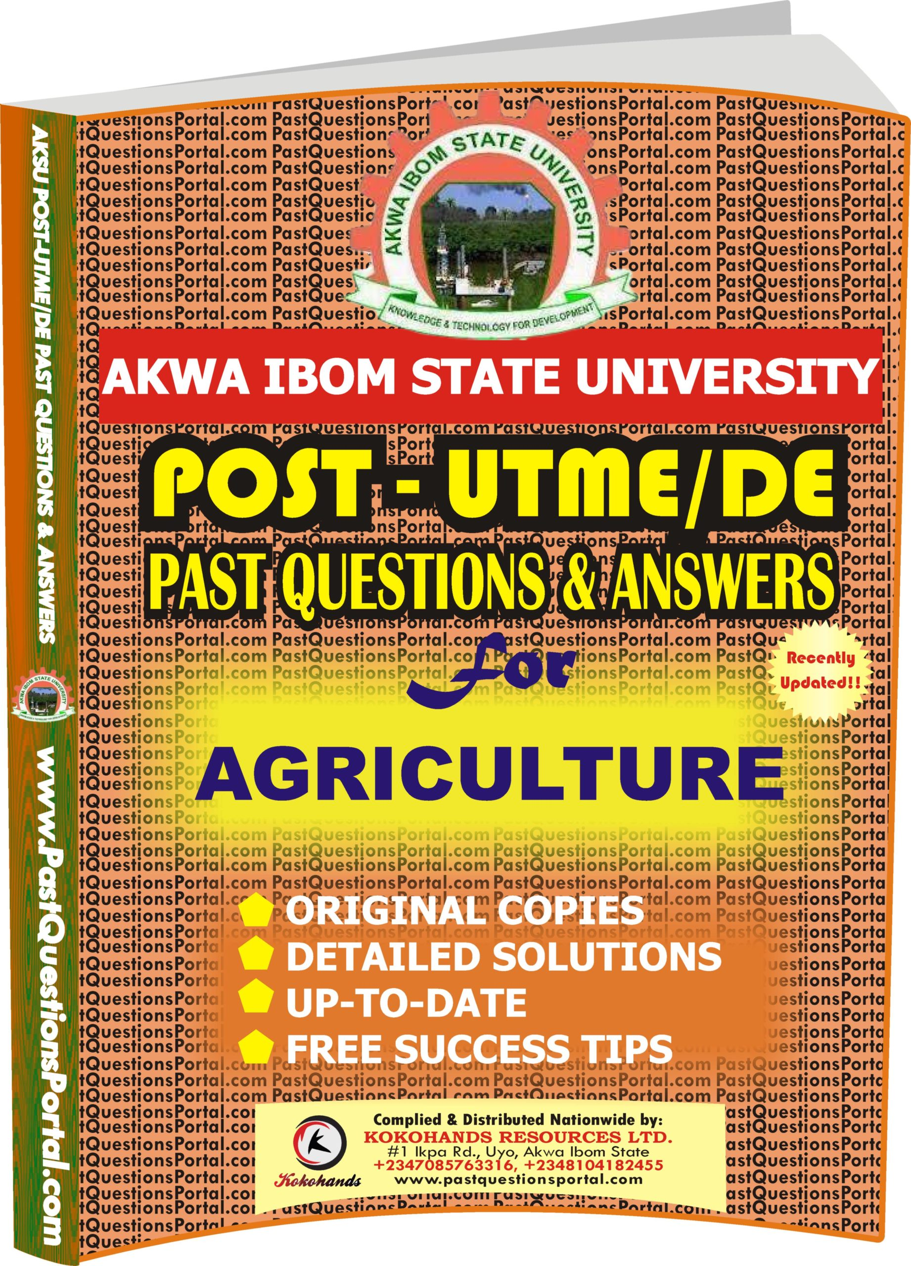 AKSU Post UTME Past Questions for AGRICULTURE
