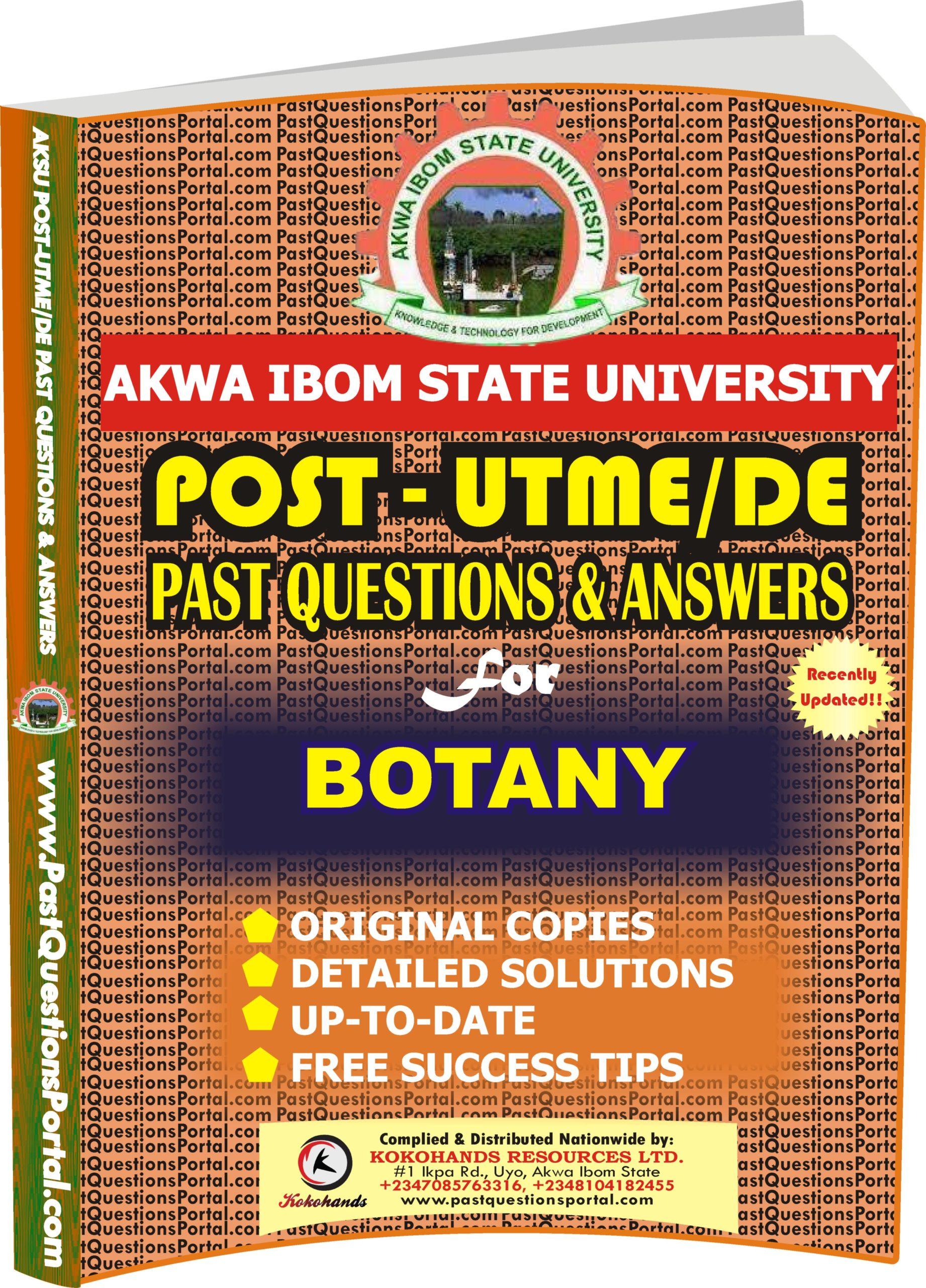 AKSU Post UTME Past Questions for BOTANY