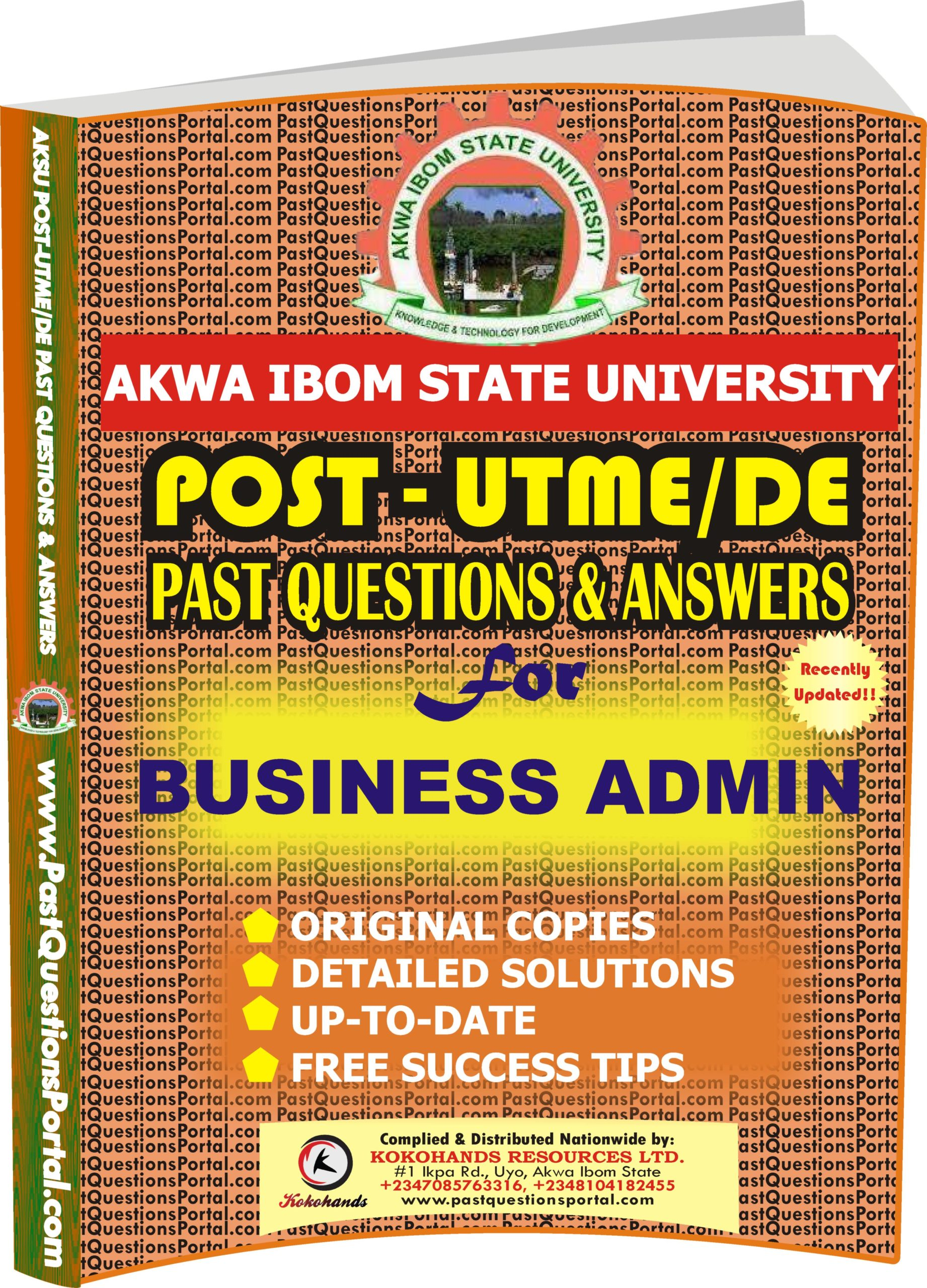 AKSU Post UTME Past Questions for BUSINESS ADMIN