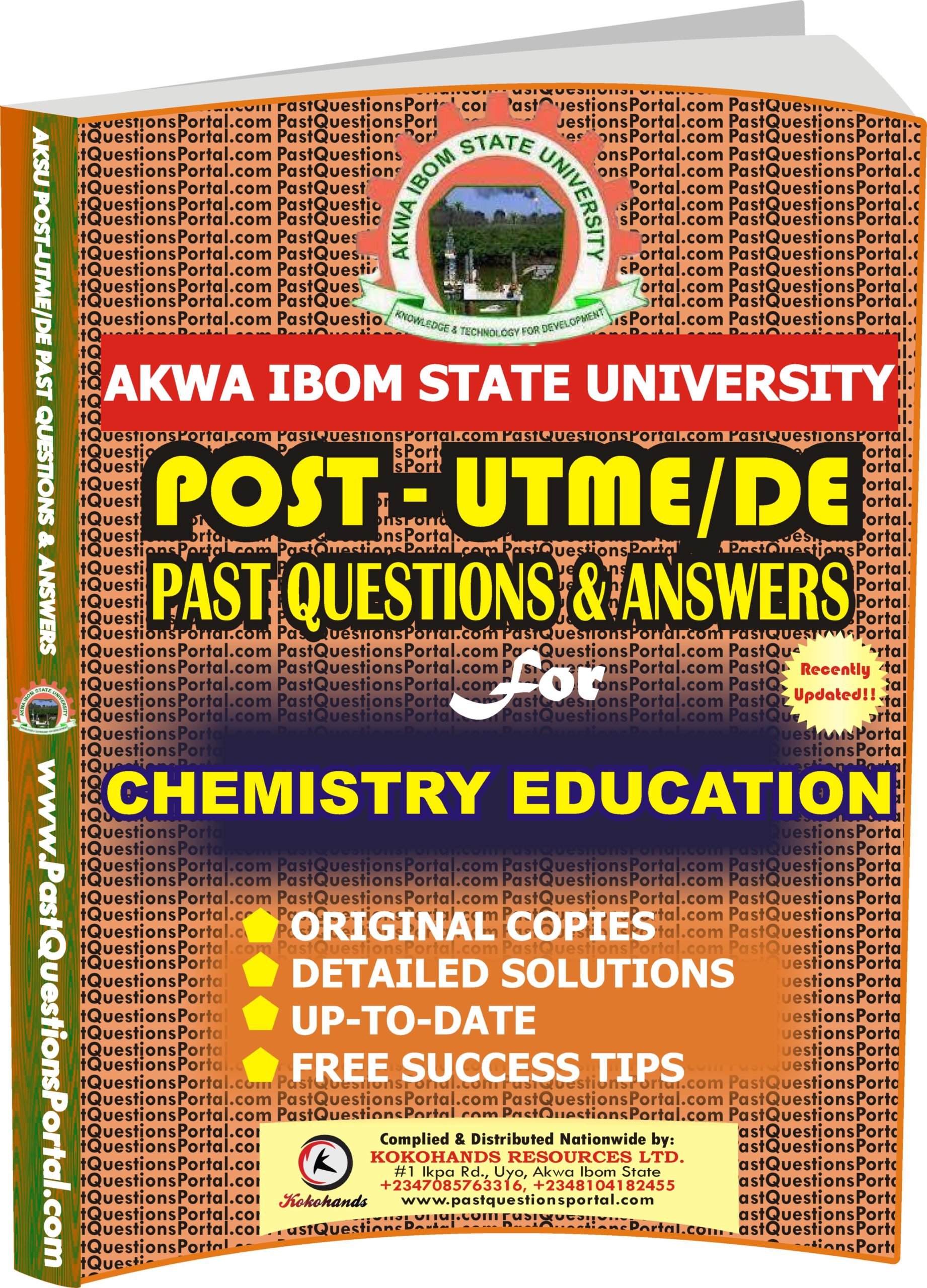 AKSU Post UTME Past Questions for CHEMISTRY EDUCATION