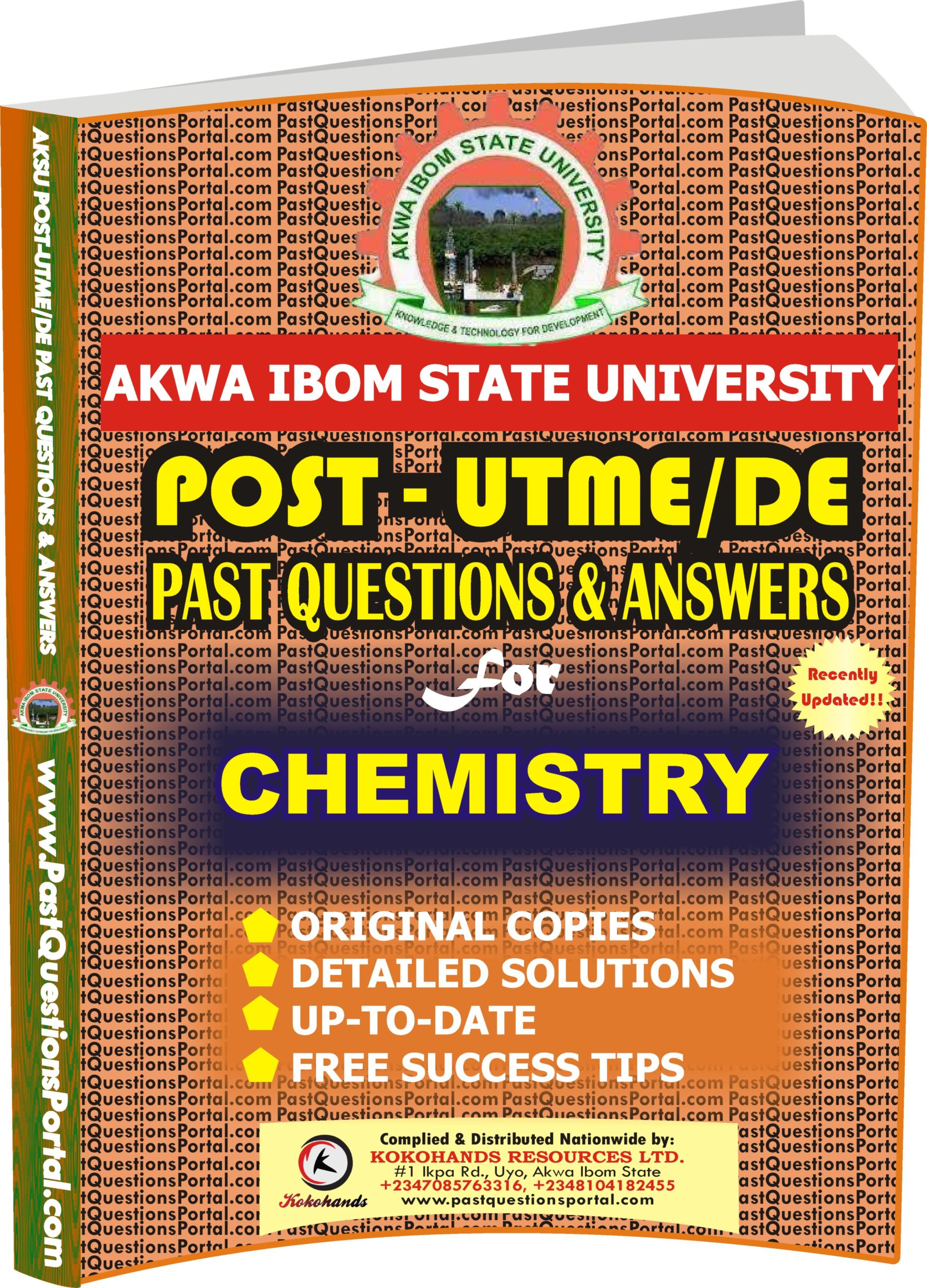 AKSU Post UTME Past Questions for CHEMISTRY