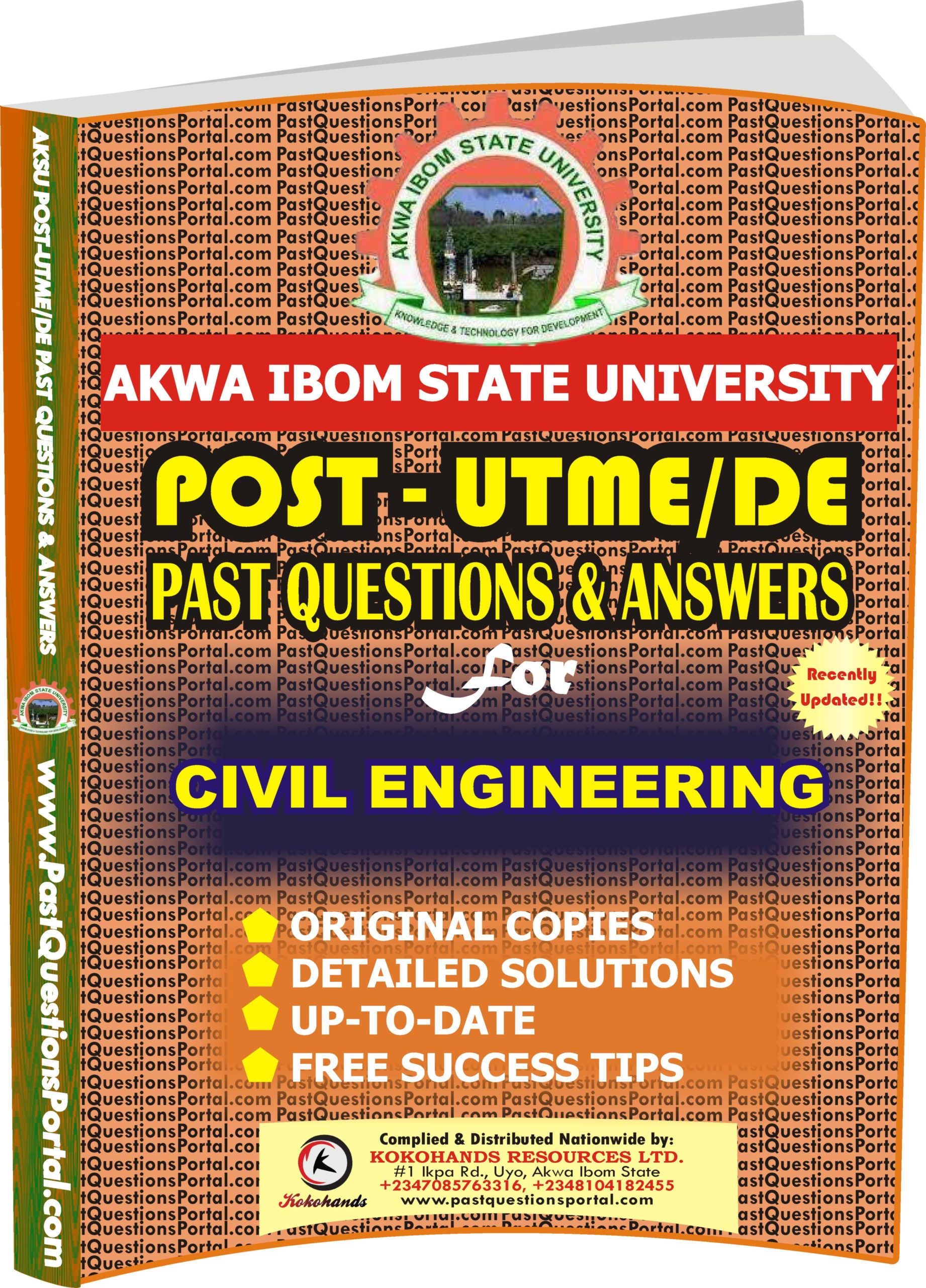 AKSU Post UTME Past Questions for CIVIL ENGINEERING