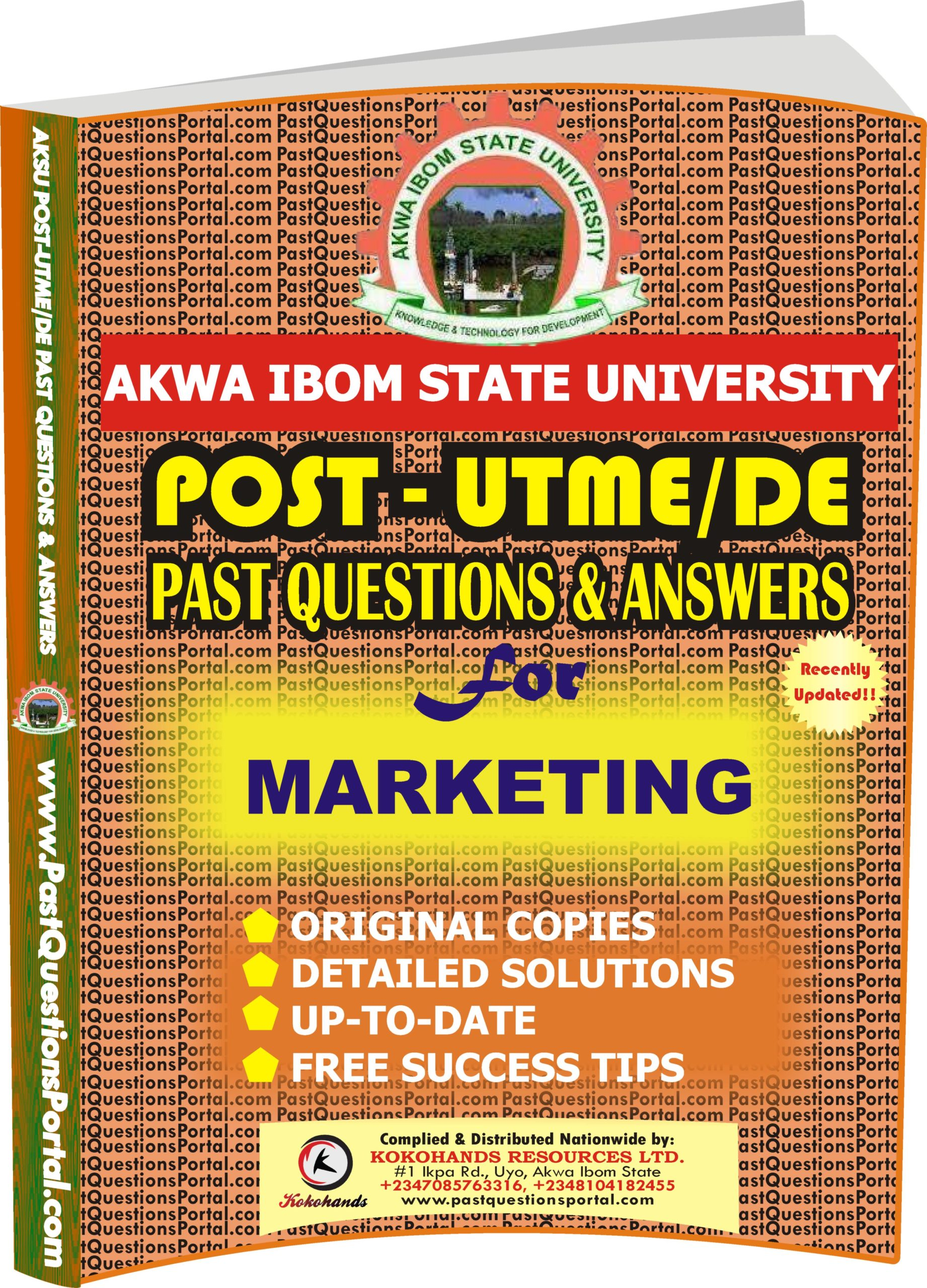 AKSU Post UTME Past Questions for MARKETING
