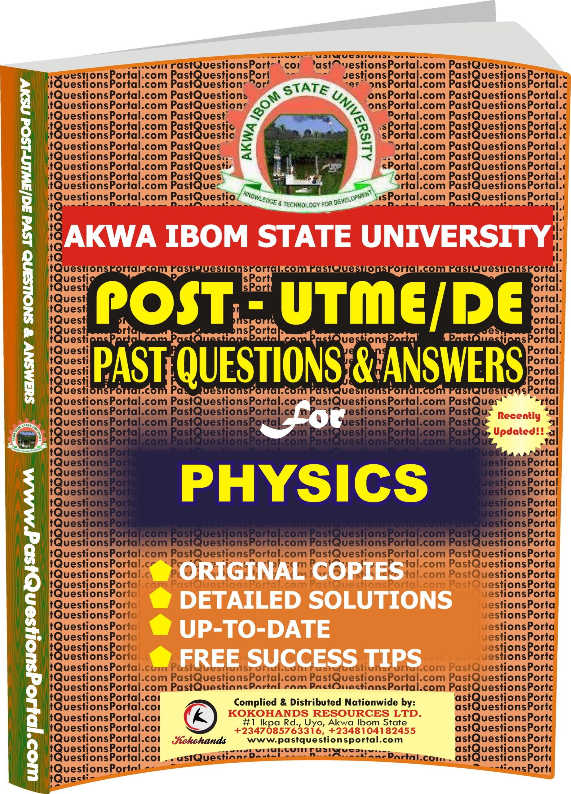AKSU Post UTME Past Questions for PHYSICS
