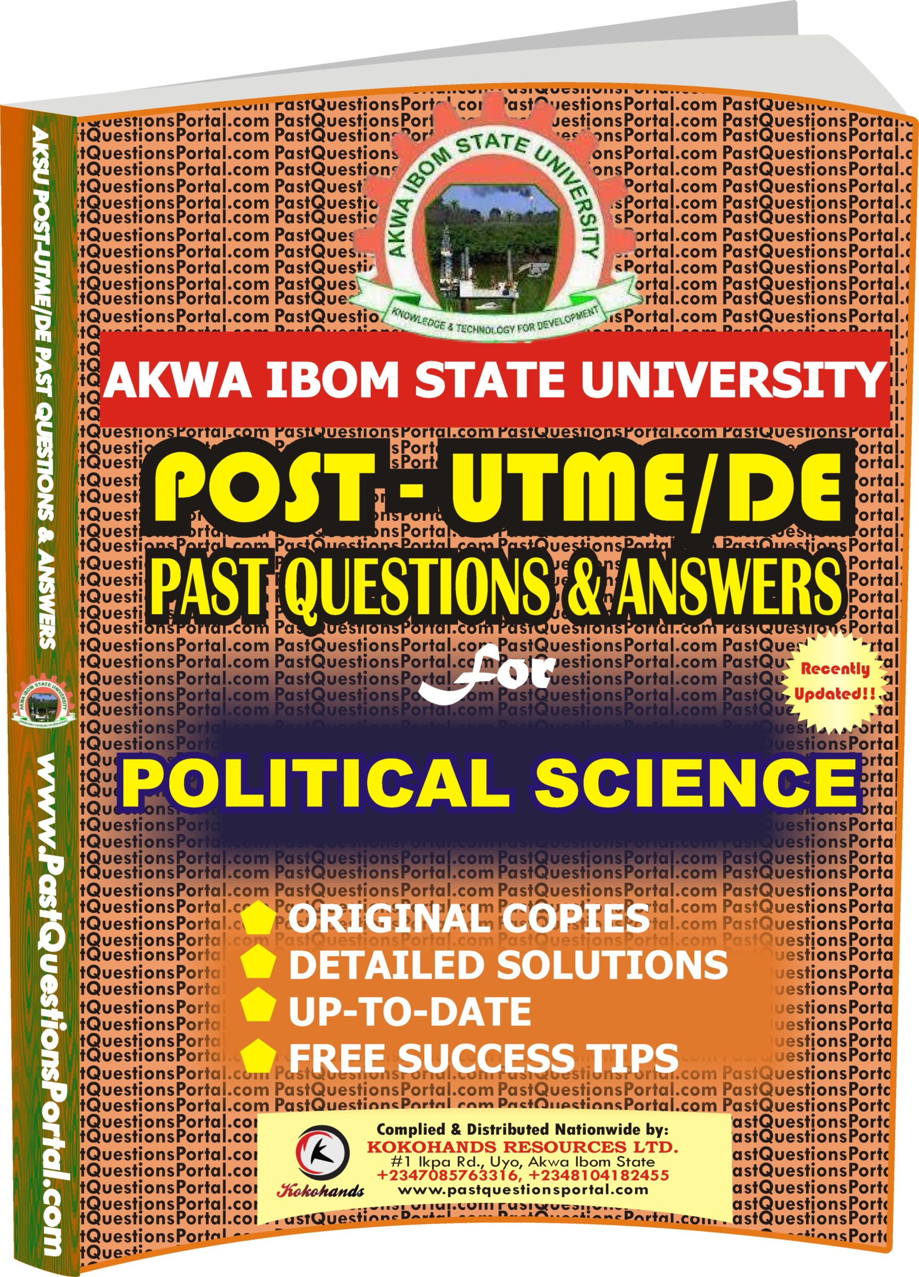 AKSU Post UTME Past Questions for POLITICAL SCIENCE