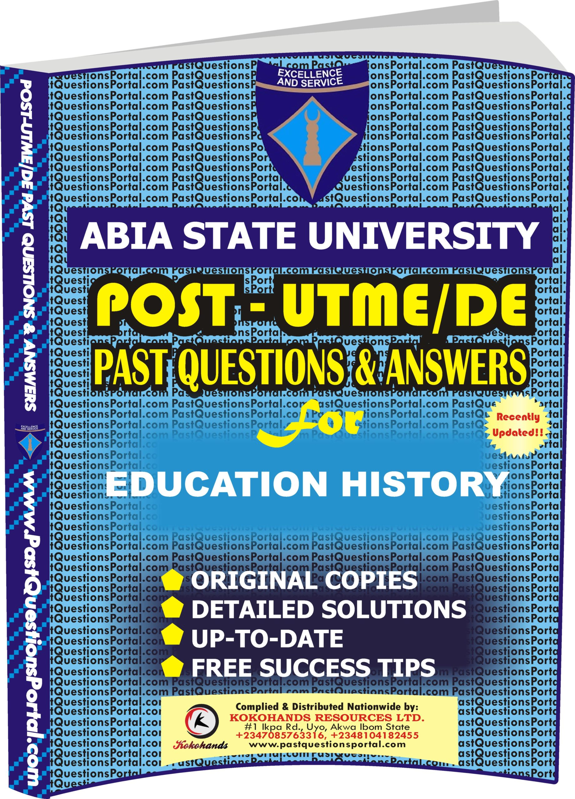 ABSU Post UTME Past Questions for EDUCATION HISTORY