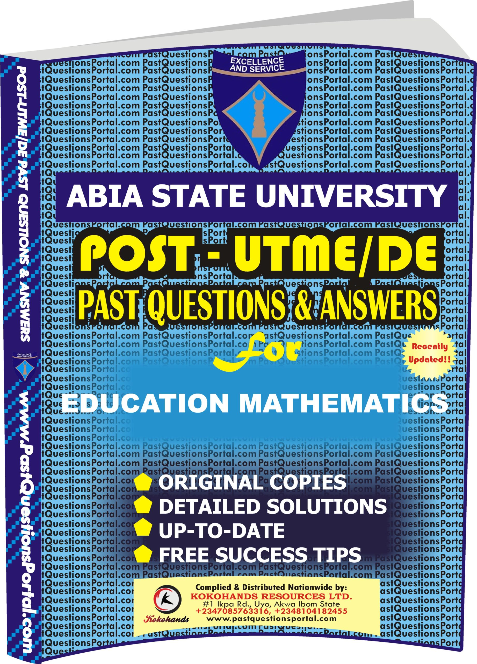 ABSU Post UTME Past Questions for EDUCATION MATHEMATICS