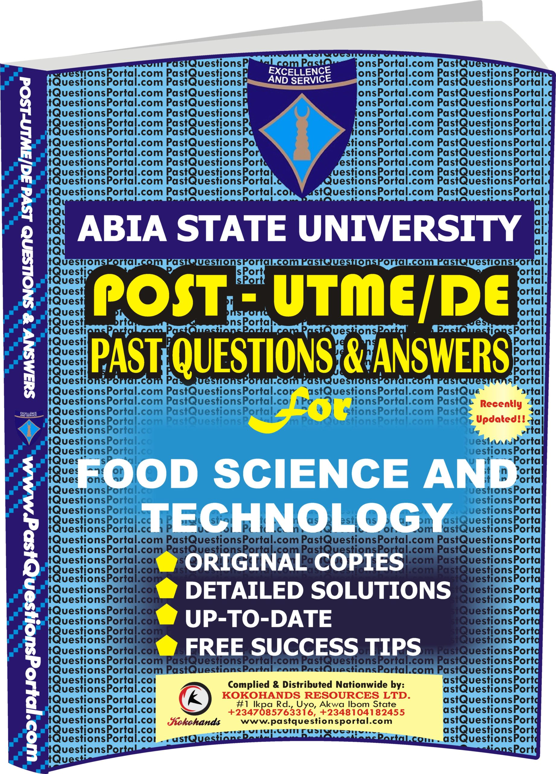 ABSU Post UTME Past Questions for FOOD SCIENCE AND TECHNOLOGY