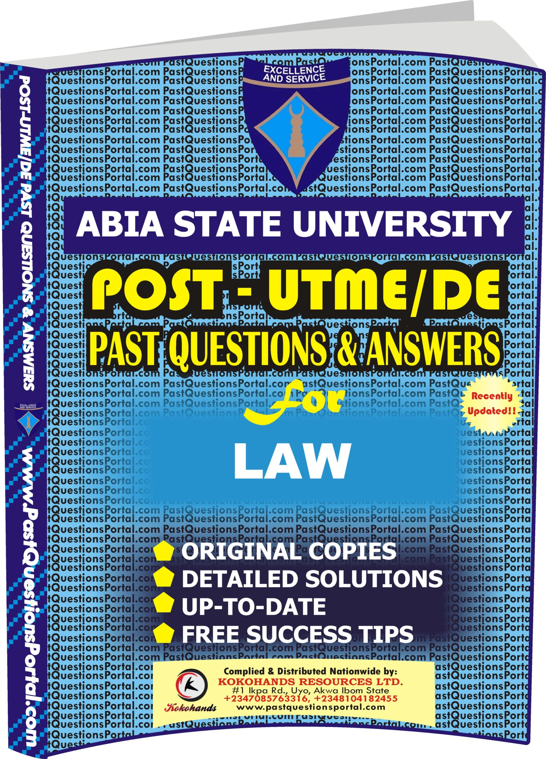 ABSU Post UTME Past Questions for LAW