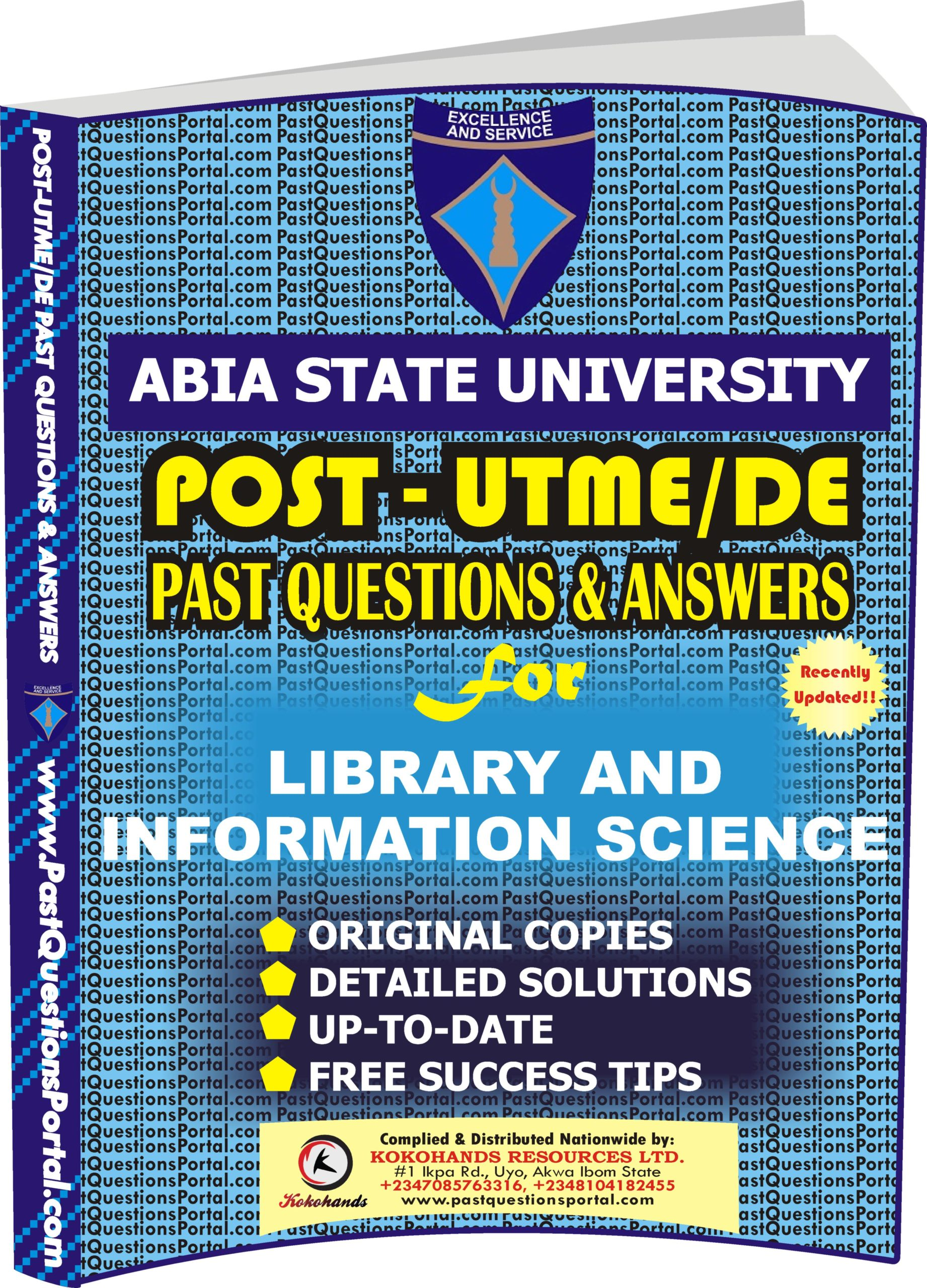 ABSU Post UTME Past Questions for Library and Information Science