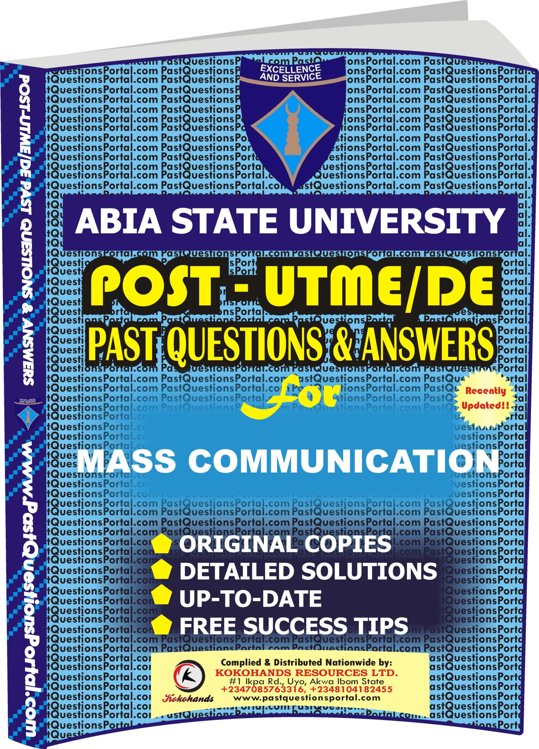 ABSU Post UTME Past Questions for MASS COMMUNICATION