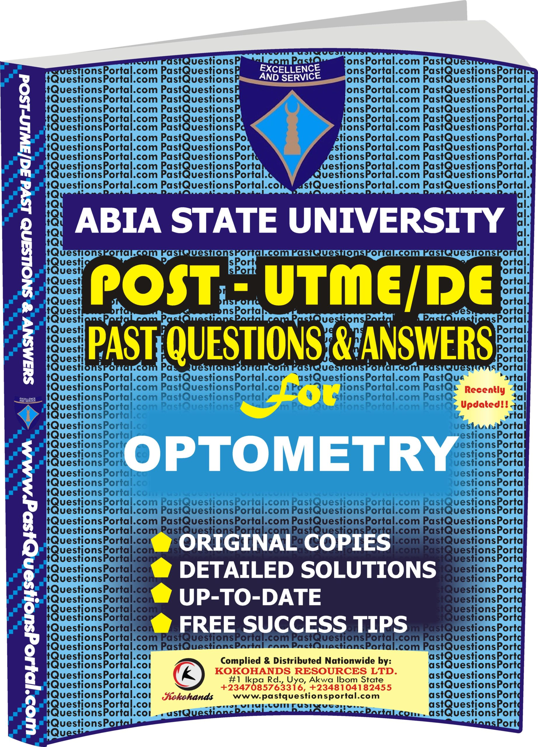 ABSU Post UTME Past Questions for OPTOMETRY