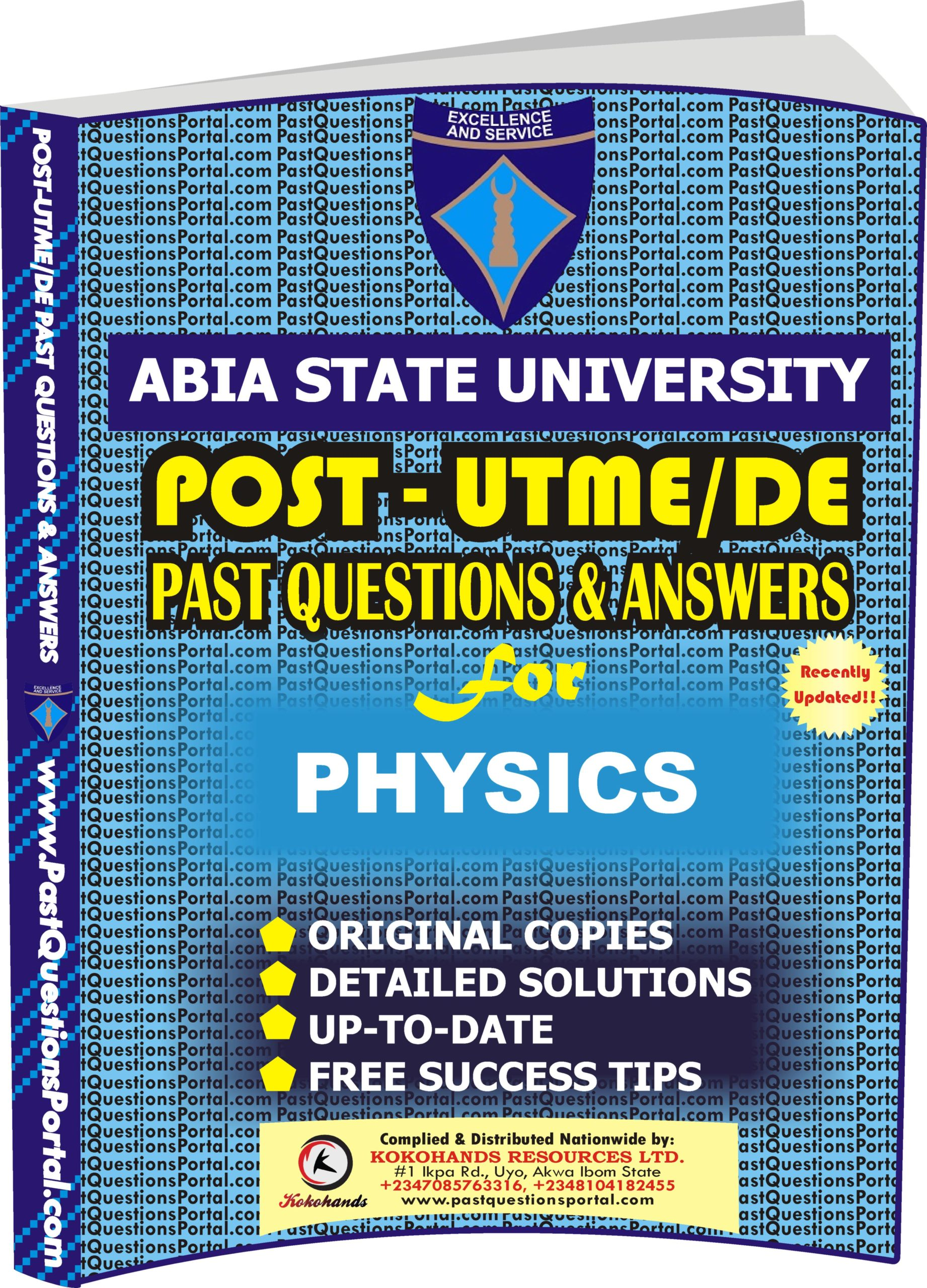 ABSU Post UTME Past Questions for PHYSICS