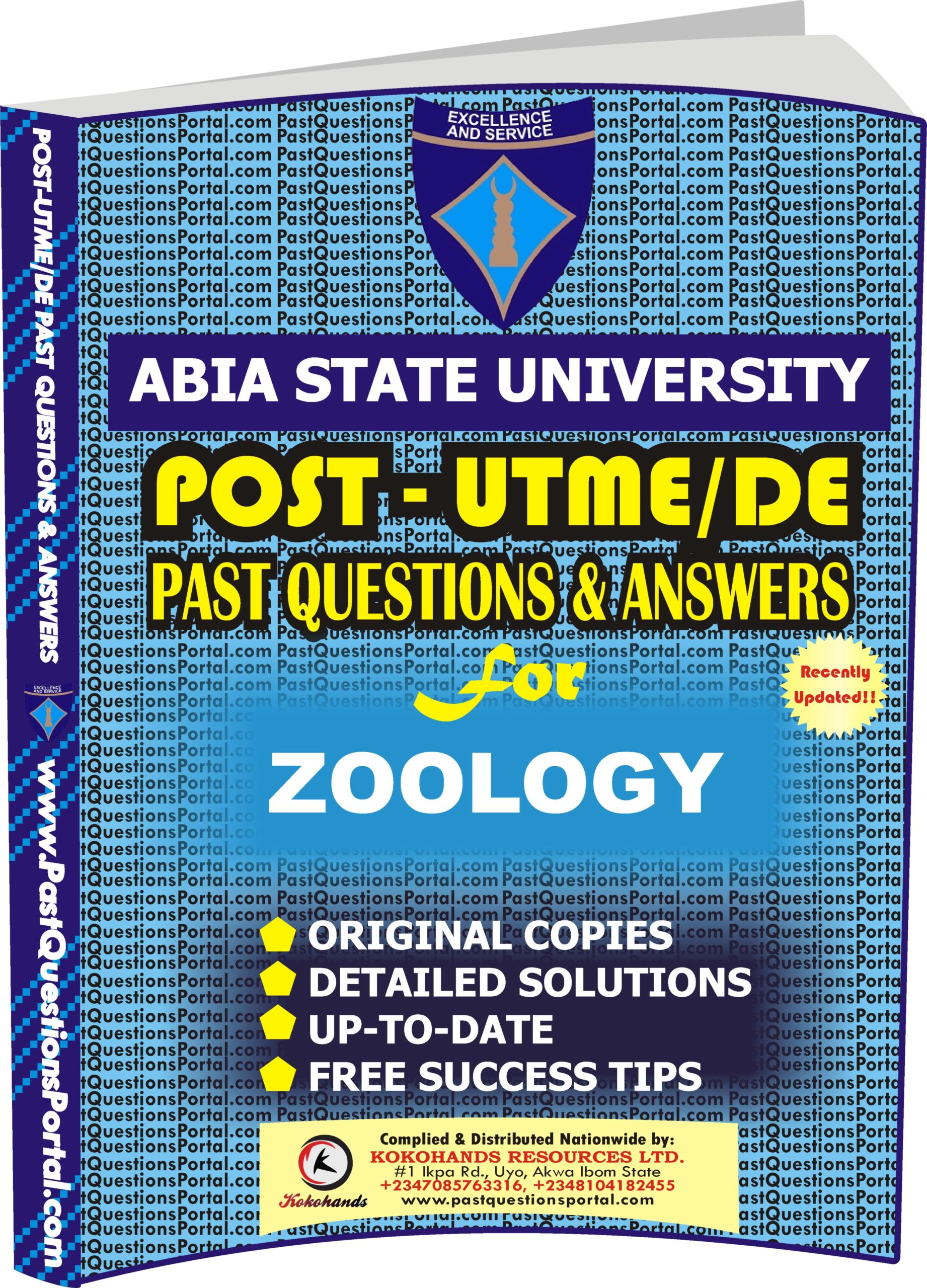 ABSU Post UTME Past Questions for ZOOLOGY