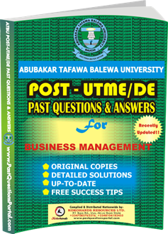 ATBU Post UTME Past Questions for Business Management