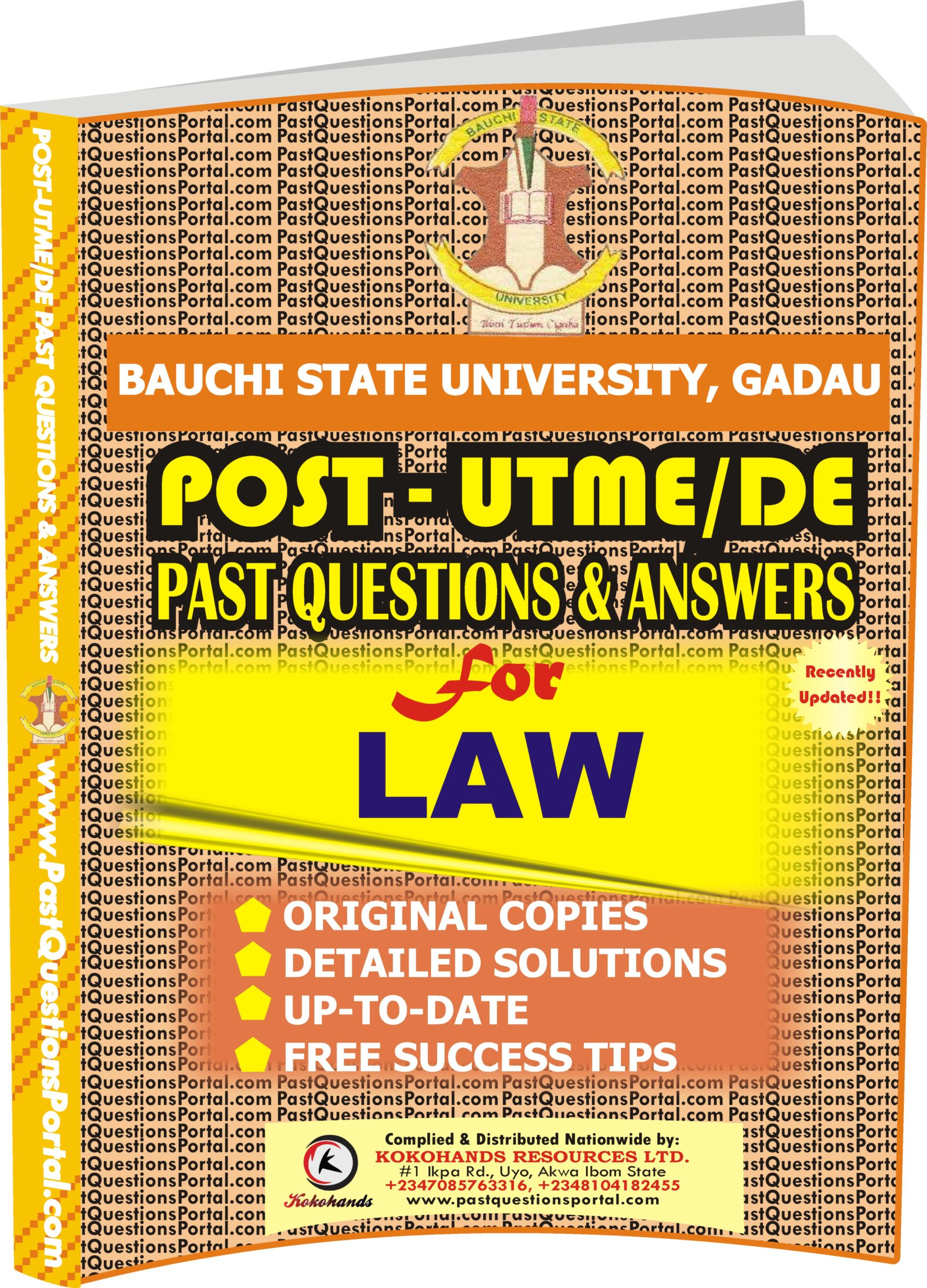 BASUG Post UTME Past Questions for LAW