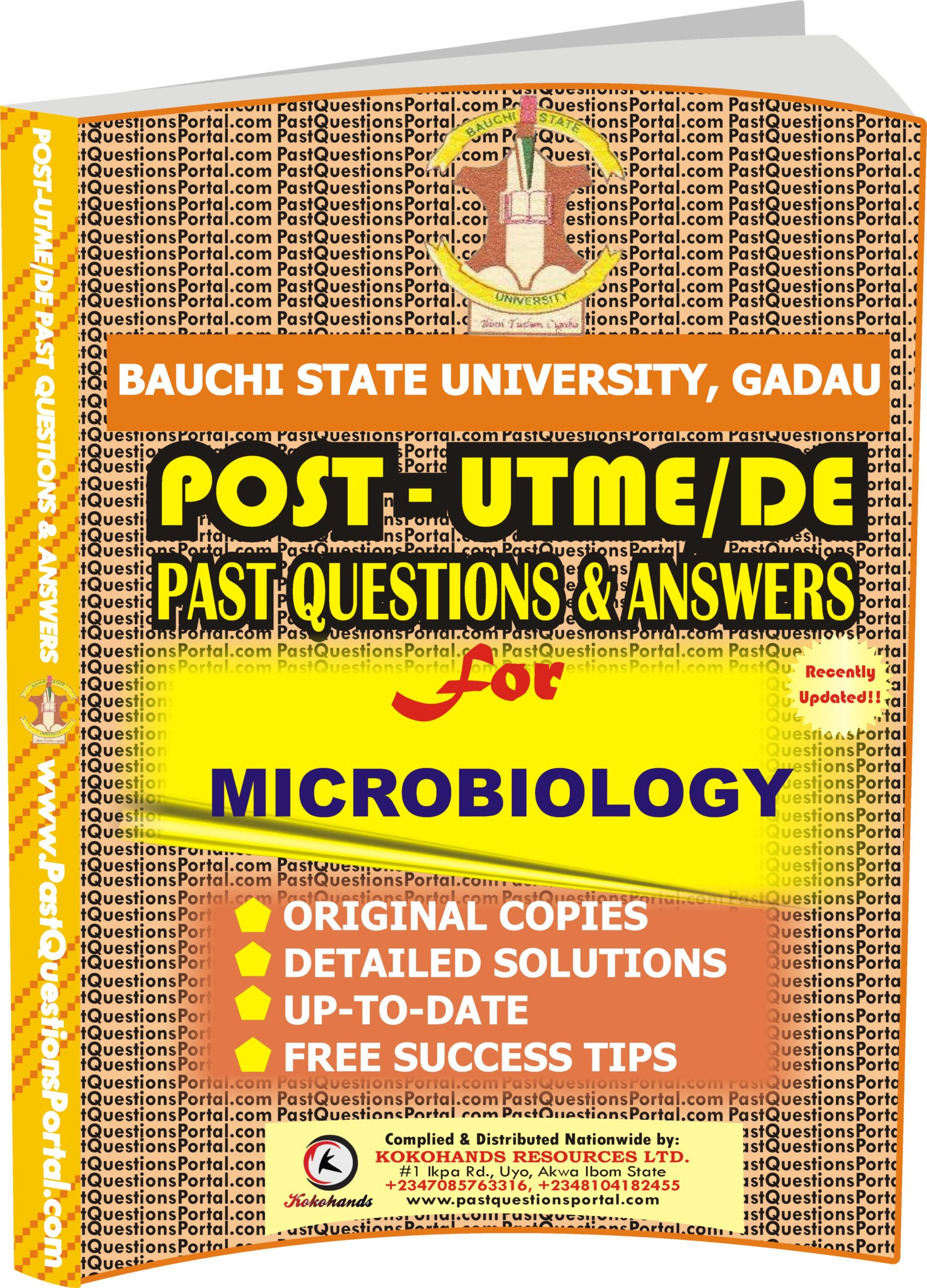 BASUG Post UTME Past Questions for MICROBIOLOGY