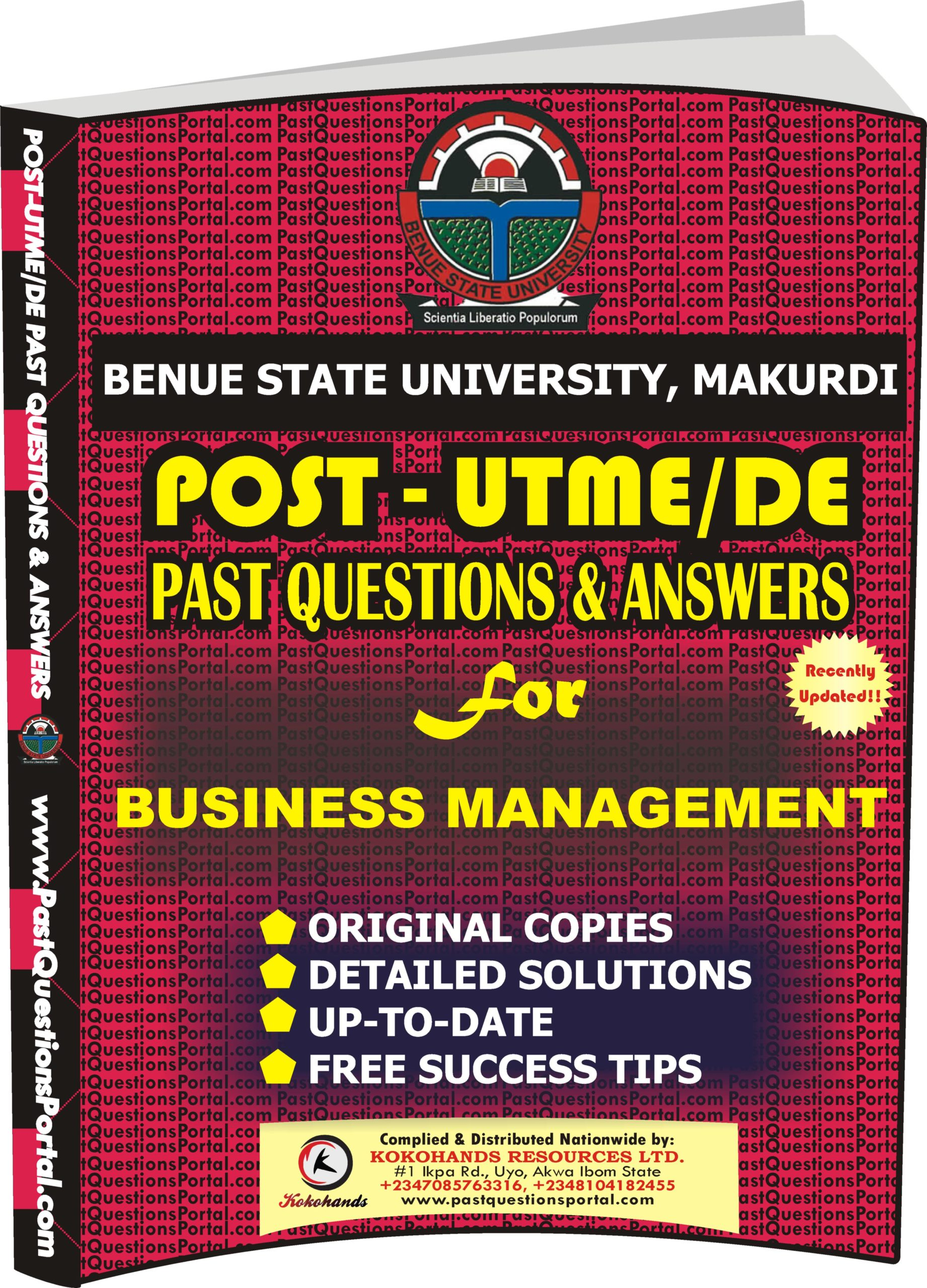 BSUM Post UTME Past Questions for BUSINESS MANAGEMENT