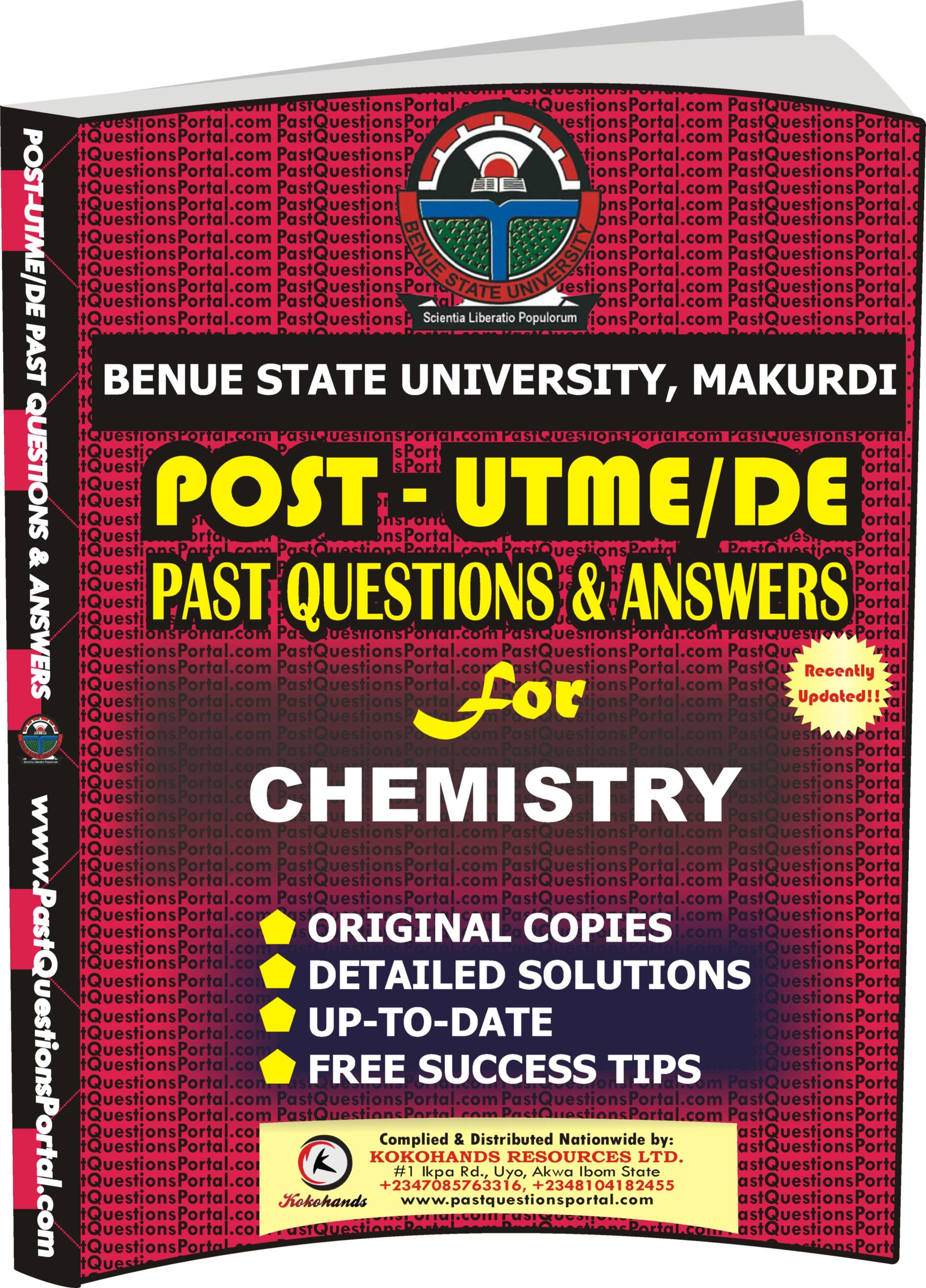 BSUM Post UTME Past Questions for CHEMISTRY