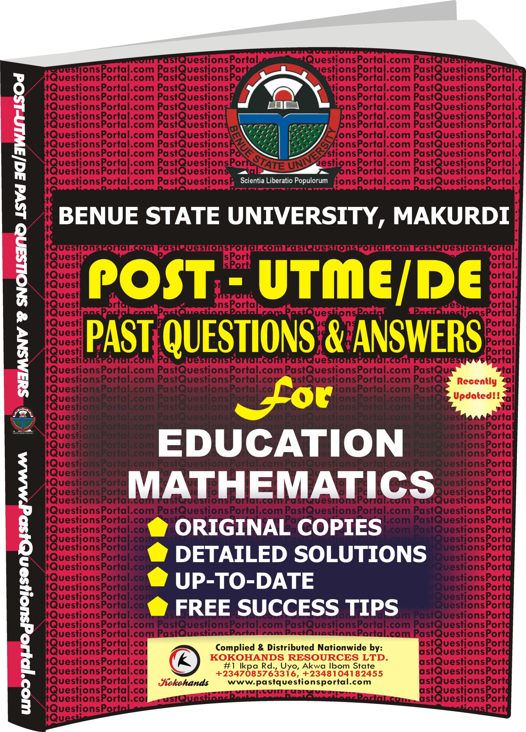 BSUM Post UTME Past Questions for EDUCATION MATHEMATICS