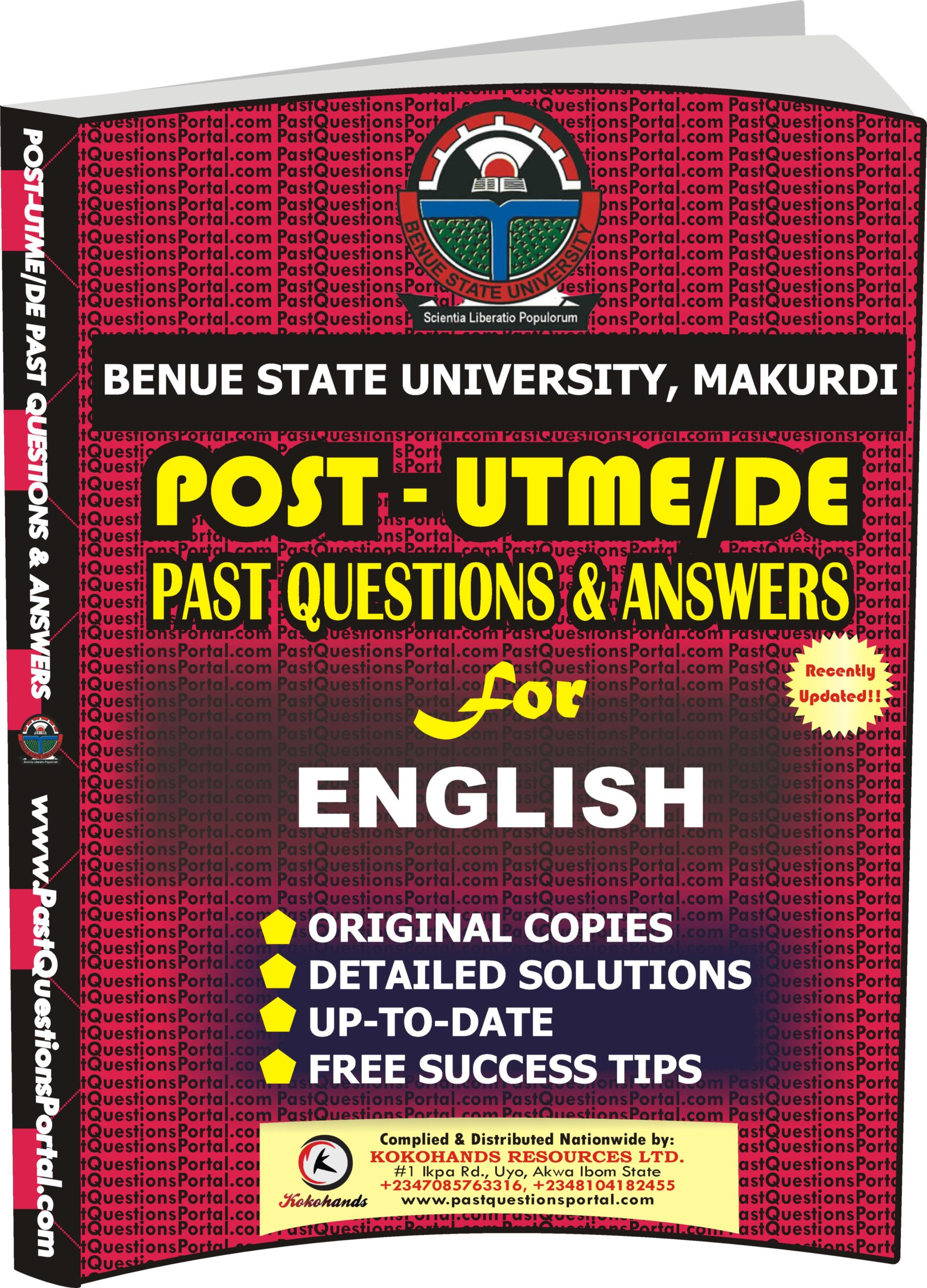 BSUM Post UTME Past Questions for ENGLISH