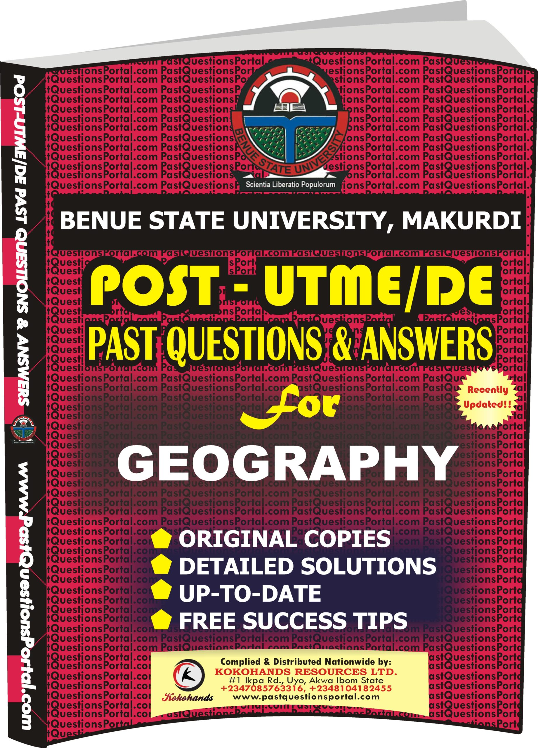 BSUM Post UTME Past Questions for GEOGRAPHY