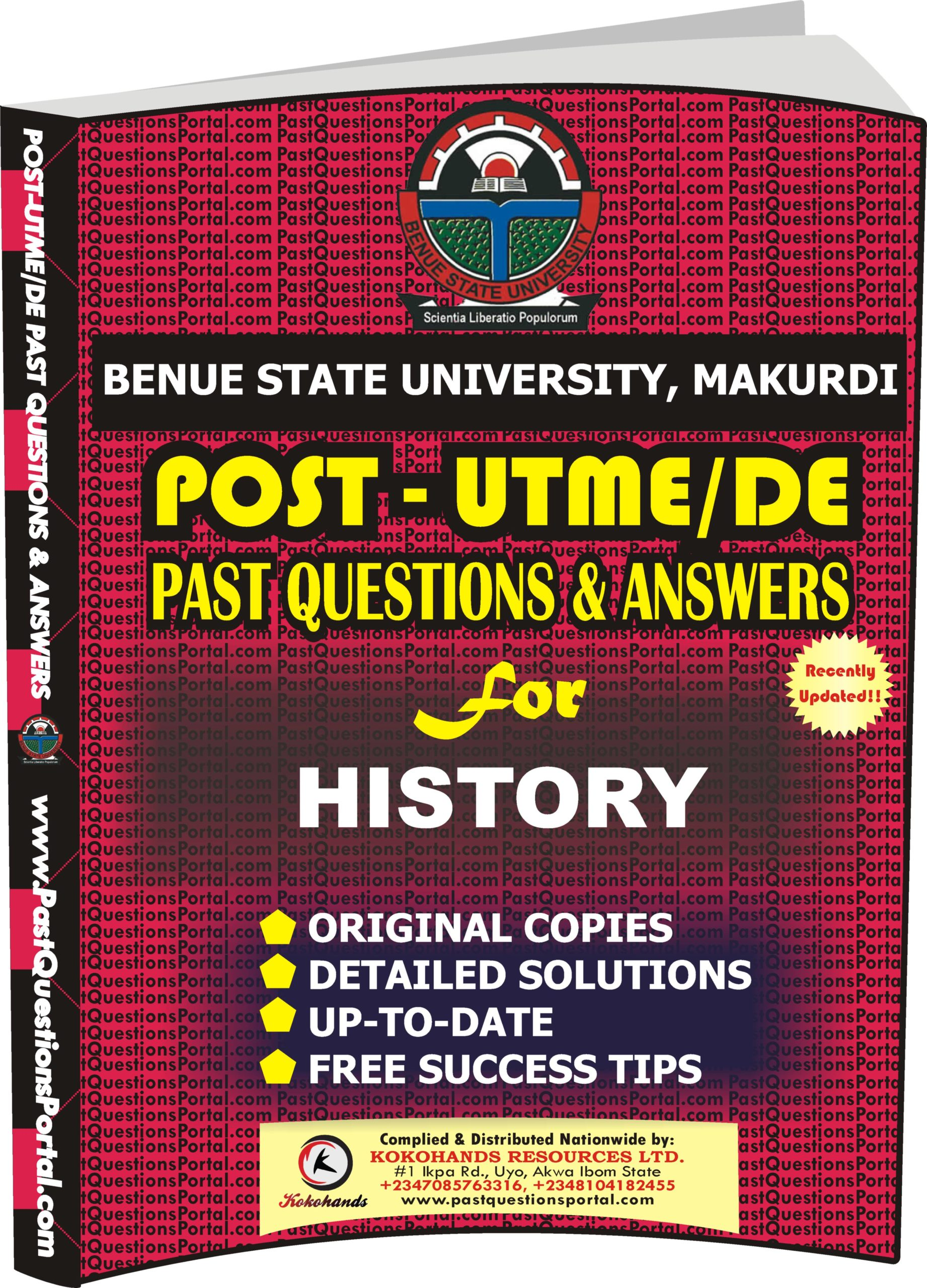BSUM Post UTME Past Questions for HISTORY