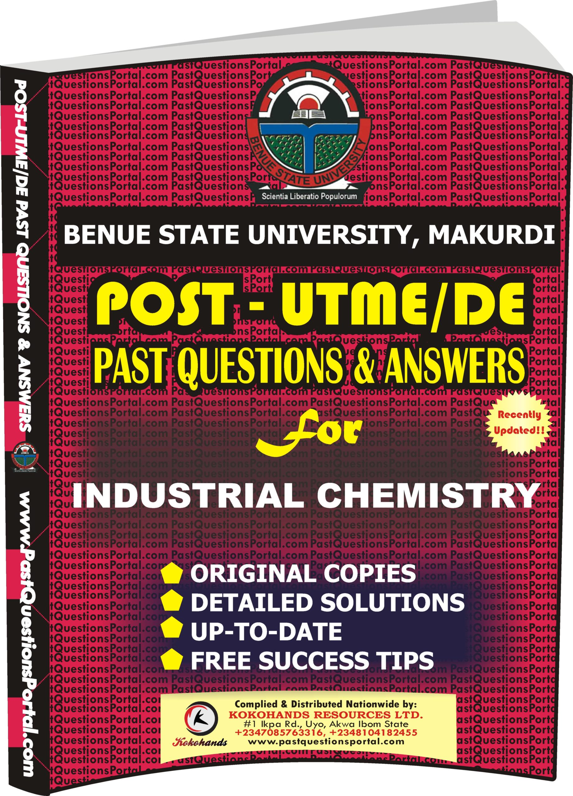 BSUM Post UTME Past Questions for INDUSTRIAL CHEMISTRY