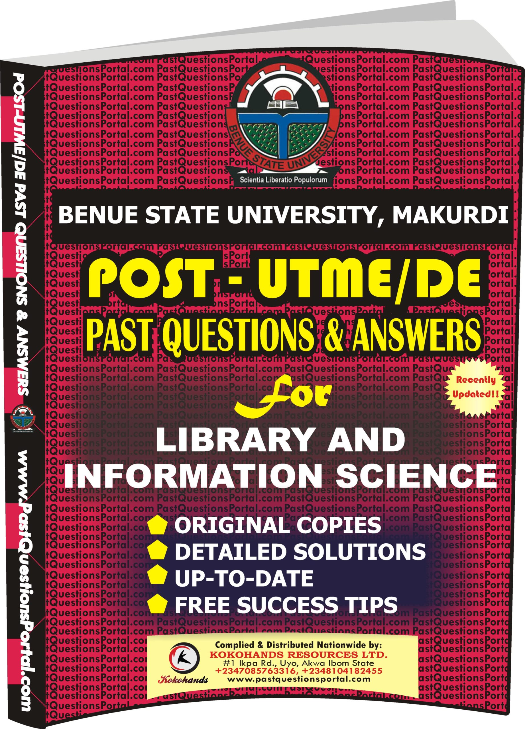 BSUM Post UTME Past Questions for Library and Information Science