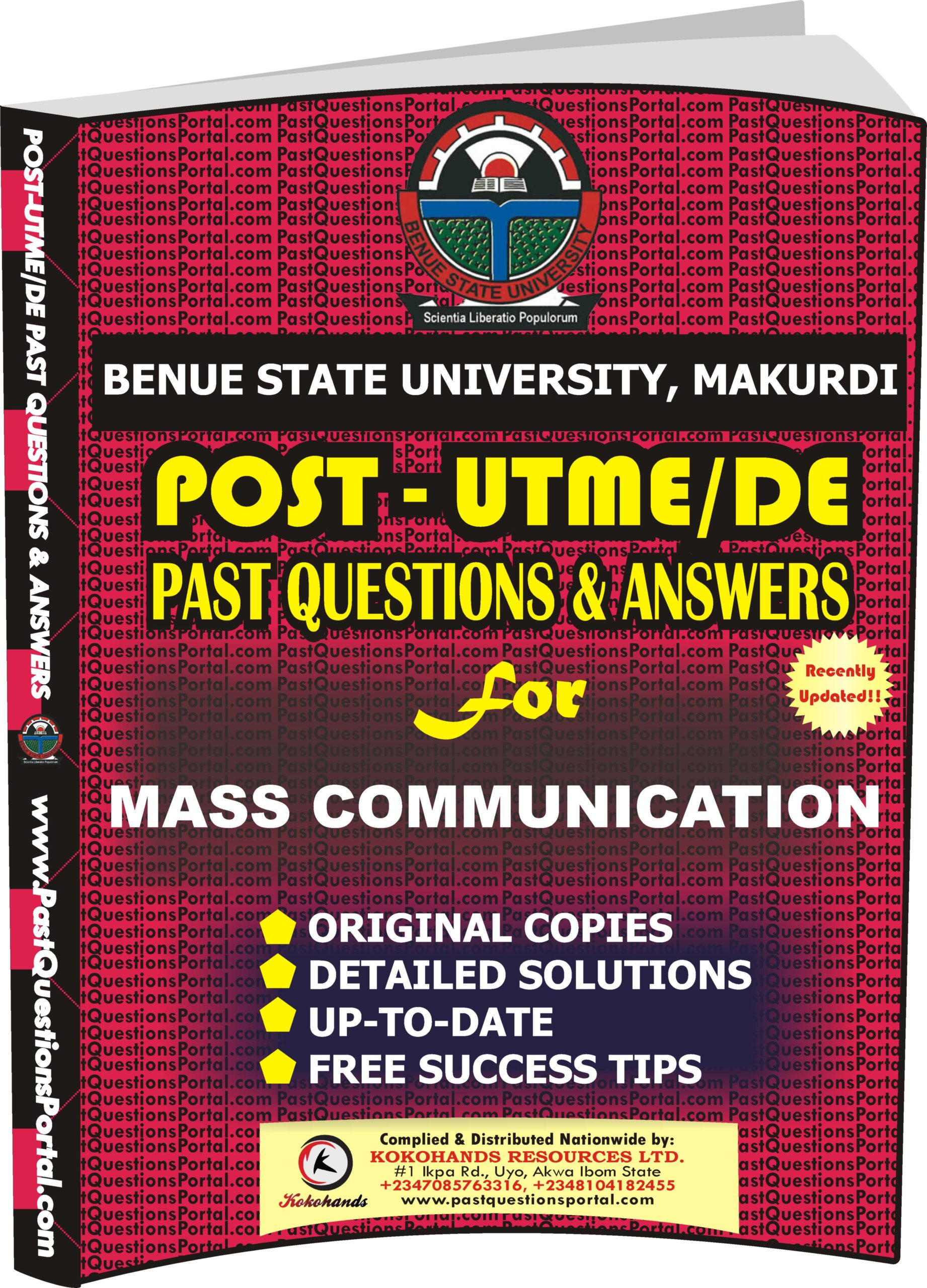 BSUM Post UTME Past Questions for MASS COMMUNICATION