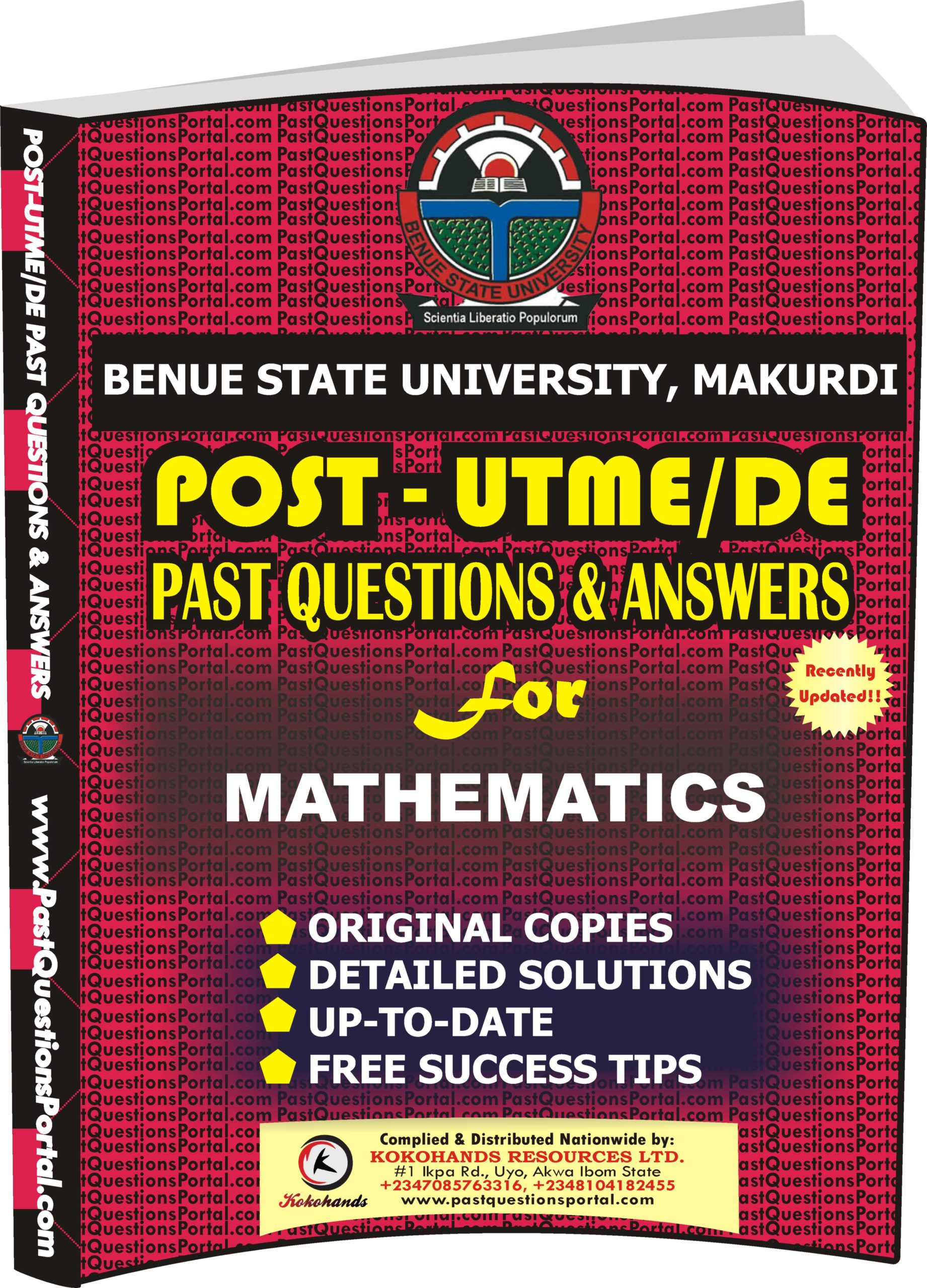 BSUM Post UTME Past Questions for MATHEMATICS