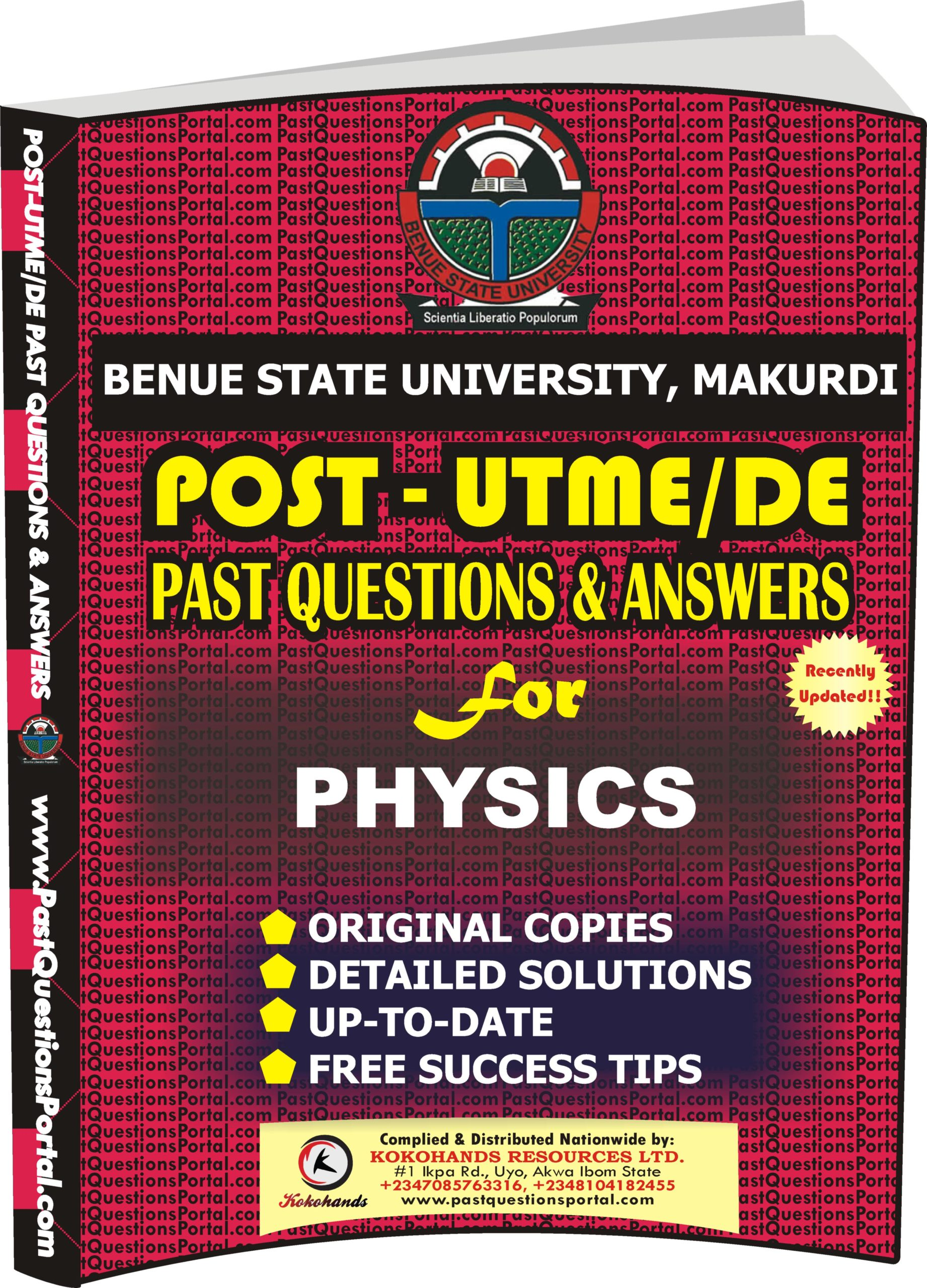 BSUM Post UTME Past Questions for PHYSICS
